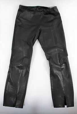 The Row Black Lambskin Leather Pants Size 8 Waist 31, Anne Anka Estate