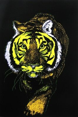 Tiger - Blacklight Poster - 23X35 Flocked 52588