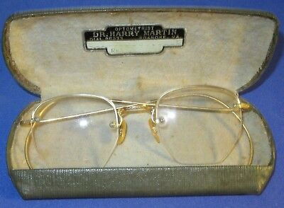 Vintage Gold Filled Octagon Eye Glasses 1/10 12K GF- Original Case Roanoke, Va
