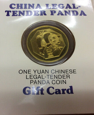 1984 China Legal-Tender Panda One Yuan Chinese Leagal Tender Panda Coin