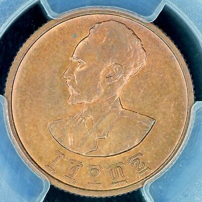 10 Cent EE1936 PCGS MS64RD Ethiopia Chocie UNC Copper Coin