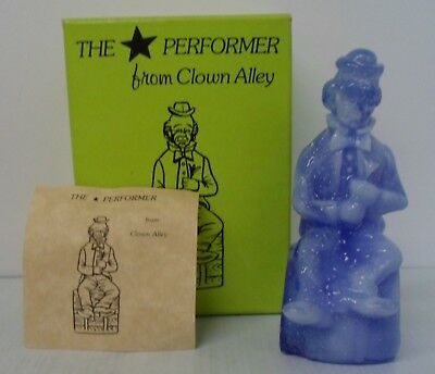 """Mosser Glass """"The Performer from Clown Alley"""" """"Von"""" - blue with Box"""