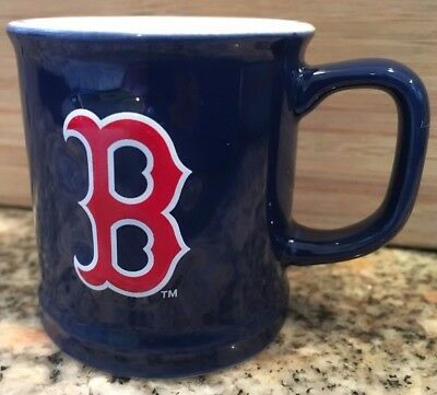 """Boston Red Sox Blue Shot Glass Handled Mug Encore Authenticity Tag Intact 2"""" T"""