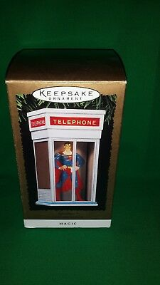 1995 Hallmark Superman In Phone Booth Ornament Magic