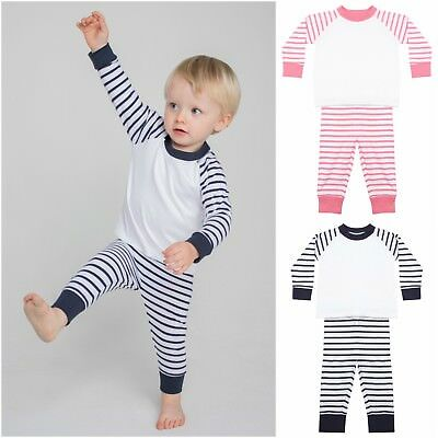 Childrens Baby Toddler Pyjama Set Pyjamas PJs Boys Girls Long Sleeve Trouser Set