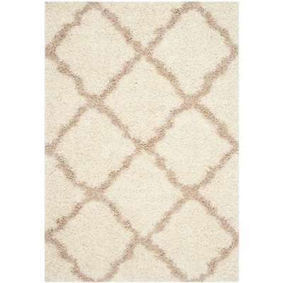 Safavieh Dallas Shag Collection 5 x 7 Foot Indoor Area Rug, Ivory (Open Box)