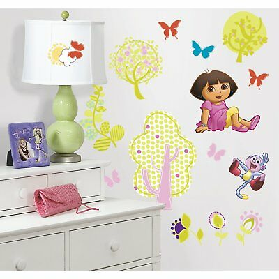 Dora the Explorer Peel & Baby And Kids Stick Wall Decals Includes 28 Wall Decals