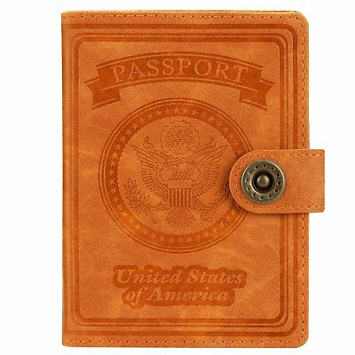 Passport Cover Holder USA Travell Case Genuine Leather Men Women Colors 2018