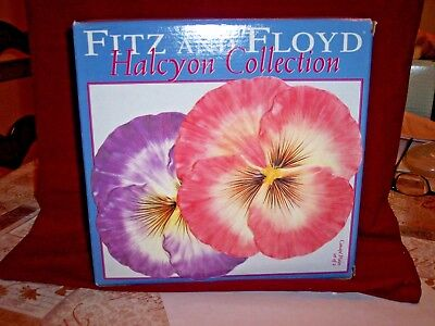 -Fitz and Floyd Halcyon Canape Plates- Floral Easter