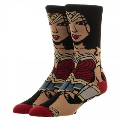 Dc Comics Justice League Wonder Woman 360 Knit All Over Print Crew Socks Bigface