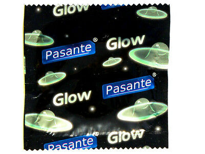 ## Pasante GLOW IN THE DARK Fluorescent Condoms FUN SEX GAMES ##