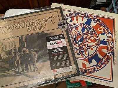 Grateful Dead Collector's lot of 2 LPs Bears Choice VG+ Workingman's Dead Sealed