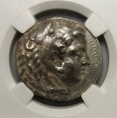NGC XF  Alexander The Great.Silver Tetradrachm Lifetime issue. Rare Greek Coin