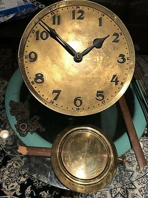 Antique German Gustav Becker (Gb) Grandfather Clock Movement