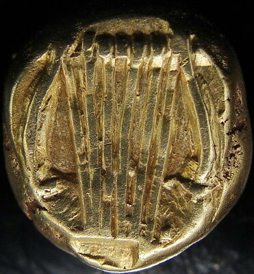 MUSE OF MUSIC AND LYRE.  Exceptional Ancient Greek gold coin el 1/6 Stater.RARE