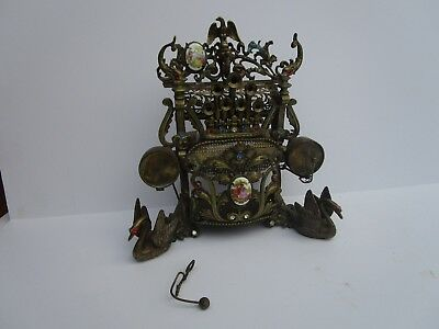 Antique  Metal Sculpture Old Musical Instrument? Parts Clock Finial ? As Is Sale