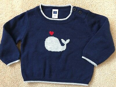 JANIE AND JACK Baby Boys Knit Sweater Pullover Shoulder Buttons Size 3-6 Months