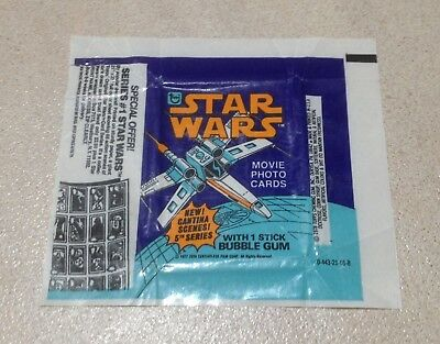 1977 Topps Star Wars Series 5 - Wax Pack Wrapper (SPECIAL OFFER)
