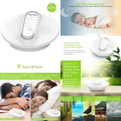 Sound Machine Therapy White Noise 24 Soothing Sleep Sounds Spa Relaxation Timer