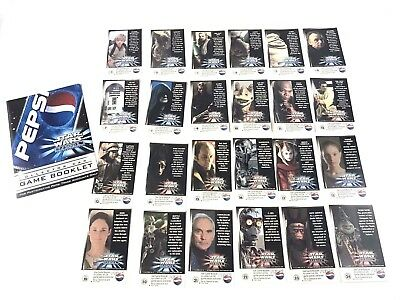 Pepsi Star Wars Episode I The Phantom Menace Collector Cards Full Set 24 Cards