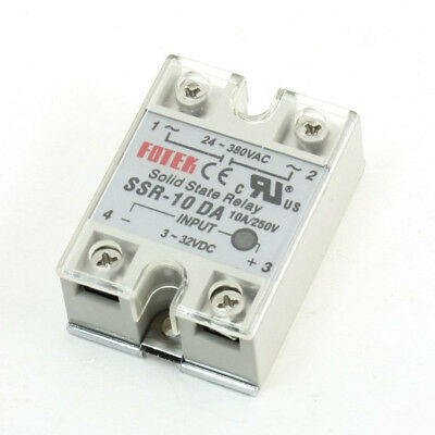 Single Phase DC to AC Solid State Relay 4 Terminal 10A SSR-10DA