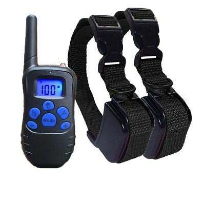 2 Dog Waterproof Rechargeable Electric Remote Shock Training Collar for 5-60 kg