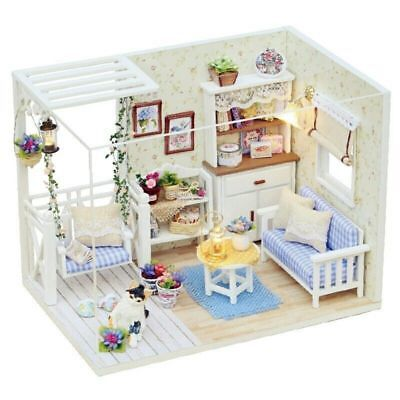 Doll House Furniture Diy Miniature Dust Cover 3D Wooden Miniature Dollhouse Q3P0