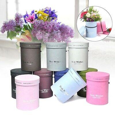 Bouquet Flower Boxes Paper Round Living Vases Florist Box Wedding Party Decor