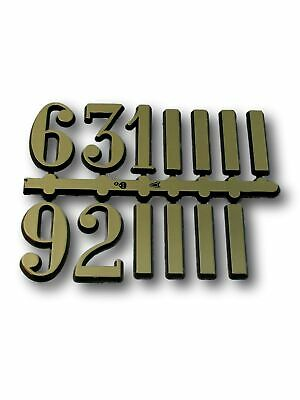 CLOCK FACE DIAL NUMBERS 3,6, 9,12 and Batons For Large Gold Arabic