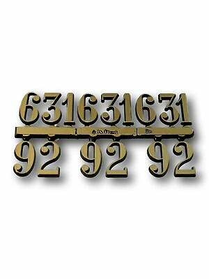 CLOCK FACE DIAL NUMBERS 3,6, 9,12 For Large Gold Arabic Set