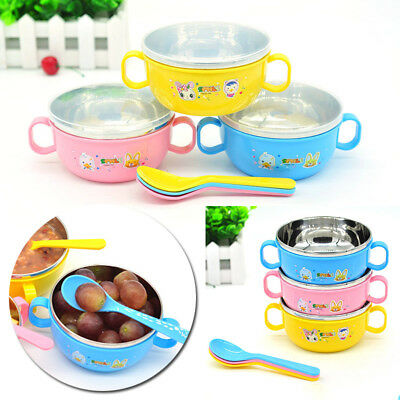 Stainless steel bowl baby bowl bowls cutlery Children's baby food supplement