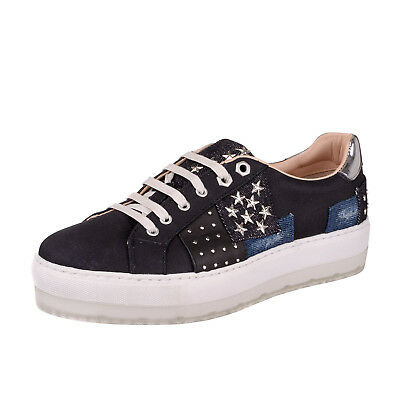 New Womens Sneakers DIESEL Studded Patchwork Denim Size 39 / UK 6 RRP €160