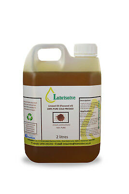 Linseed Oil - 100% pure, cold pressed Linseed Oil  - 2 litres