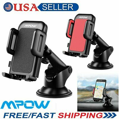 MPOW 360°Rotating Car Holder Windshield Mount Bracket Stand for Mobile Phone US