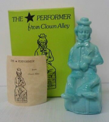 "Mosser Glass ""The Performer from Clown Alley"" ""The End"" - light blue with Box"
