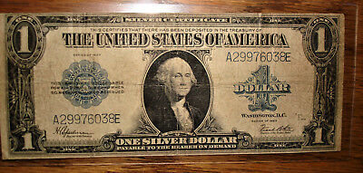 l923 LARGE ONE DOLLAR SILVER CERTIFICATE