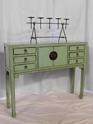 A Stunning Oriental Antique Style Cute Sized Painted Cabinet Chest On Stand