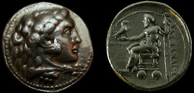Probably the Second Known Ptolemy Tetradrachm in Name Of Alexander VERY RARE