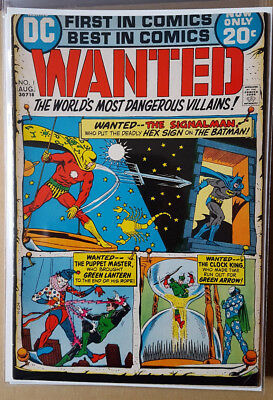WANTED # 1, to # 9,  (1972 / 1973 - DC COMICS - VG / VG+ / FN- / FN - 9 issues)