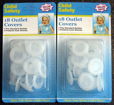 36 Piece-New Child Proof Electric Outlet Plug Cover Shock Protector Safety Guard