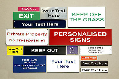 Plaques & Signs Engraved - Ideal for indoor / outdoor use !!