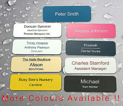 Engraved Personalised Name Badges - shops work clubs school etc.