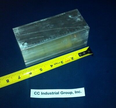 """2.5"""" x 2.5"""" x 6"""" Long ALUMINUM SOLID SQUARE STOCK 6061 T6511 - NEW MILL STOCK"""