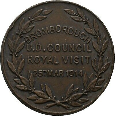 LANZ Great Britain George V Medal Bromborough Council Royal Visit 1914 :COC47