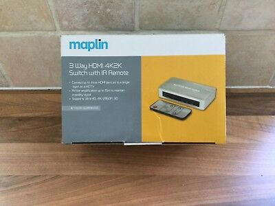 MAPLIN 3 WAY HDMI Switch With Remote RRP 4999 999 PicClick UK
