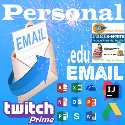 EDU Email (Amazon Prime Free 6 Months+Google Drive Unlimited+Choose your Name..)