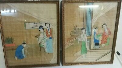 Paire Tableaux Chinois