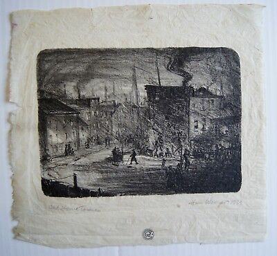Antique Print of Plate on Rice Paper Hans Werner 1939 Old Home Town