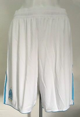 Olympic Marseille 2010/11 Player Issue Home Shorts By Adidas Size Adults Xl New