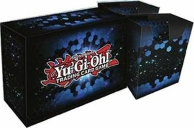 Original Konami Yugioh Card Game Blue Dual Double Storage Deck Box Container New